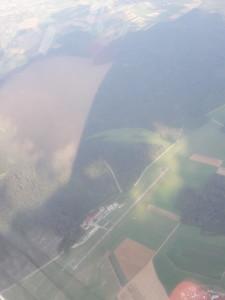 Vogelperspektive - Der Flugplatz Winzeln-Schramberg aus der Luft