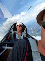 Spaß für zwei - Im Doppelsitzer kamen auch unsere frisch freigeflogenen Schüler auf ihre Kosten